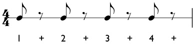 How to count rhythms with eighth rests