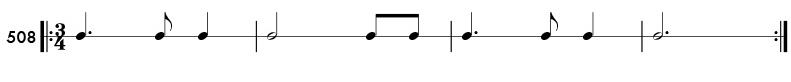 Dotted quarter note practice patterns