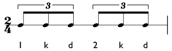 How to play quarter note triplets