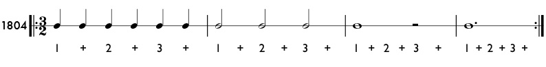 3/2 and 6/4 time signature practice patterns