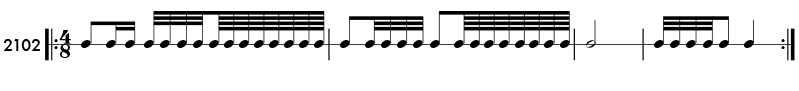 32nd note and 64th note rhythm example practice patterns