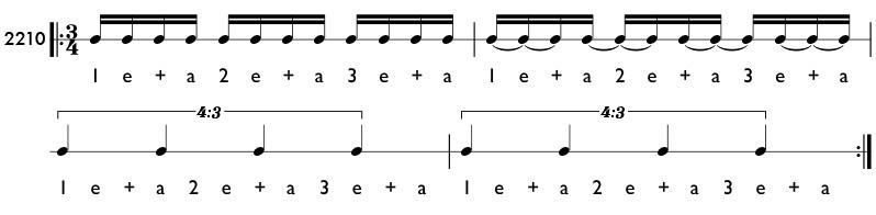 Rhythm Example Of Tuplets In Simple Meter Pattern 2210