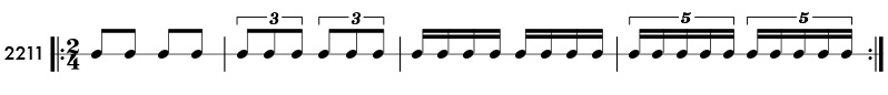 Tuplet rhythm examples and practice patterns