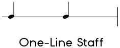 Example of a one-line staff