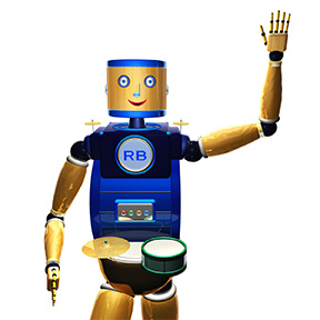 RhythmBot, the educational robot that teaches rhythm.